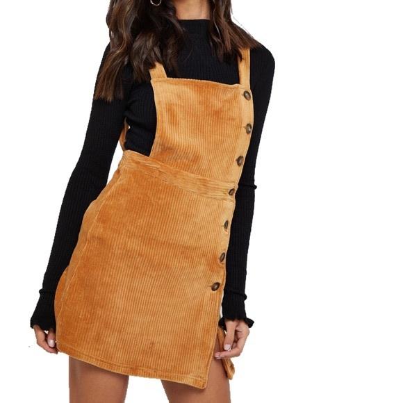 Topshop Button Down Corduroy Dress